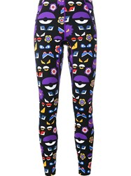 Fendi Bag Bugs Printed Leggings Black