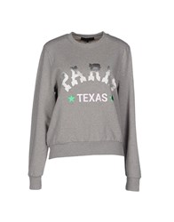 American Retro Topwear Sweatshirts Women Light Grey