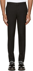 Paul Smith Black Wool Zip Accent Trousers