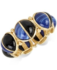 Inc International Concepts M. Haskell For Gold Tone Colorblocked Beaded Stretch Bracelet Only At Macy's Black