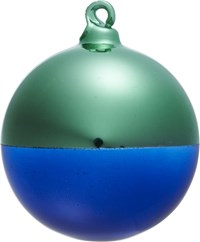 Cb2 Two Tone Mint Navy Ornament
