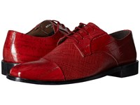 Stacy Adams Gatto Leather Sole Cap Toe Oxford Red Men's Lace Up Cap Toe Shoes