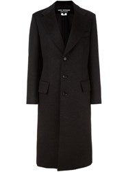 Comme Des Garcons Junya Watanabe Peaked Lapel Long Coat Black