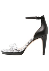 French Connection Nata Platform Sandals Black White