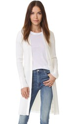 3.1 Phillip Lim Plaited Rib Long Cardigan White