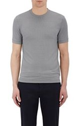 Giorgio Armani Micro Diamond Pattern T Shirt Colorless