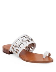 Vince Camuto Helice Leather Toe Ring Sandals White