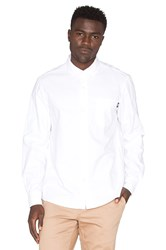 Stussy Diamond Jacquard Button Down White