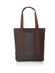 Barbour Wax Cotton Tote Bag Green