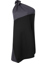 Issey Miyake Colour Block Jersey Dress Black