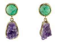 Gypsy Soule Cre37 Green Purple Earring