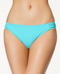 California Waves Ruched Side Tab Bikini Bottom Women's Swimsuit