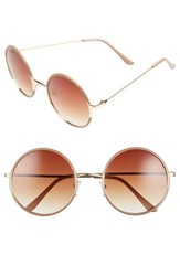 Women's A.J. Morgan 'Oh Nice' 55Mm Round Sunglasses Beige