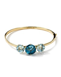 Ippolita 18K Gold Gemma Hinged Bangle Bracelet