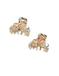 Robert Rose Jeweled Butterfly Clips Gold