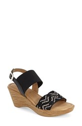 Women's Tuscany By Easy Street 'Sanremo' Wedge Sandal Black White