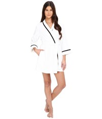 Kate Spade Terry Wrap Fresh White Women's Robe Multi