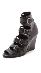 Surface To Air Buckle Sandals Black
