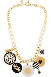 Marc By Marc Jacobs Dynamite Gold Tone Enamel Necklace