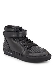 Eleven Paris Leather High Top Sneakers Black