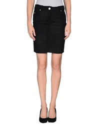 Galliano Mini Skirts Black