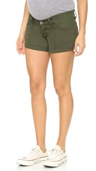 Dl1961 Foster Maternity Relaxed Shorts Fennel