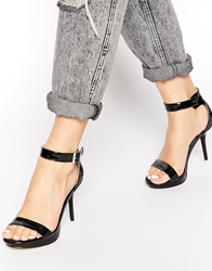 Blink Patent Black Barely There Heeled Sandals