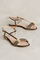 Monica Garcia Unica Sandals Black Gold