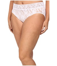 Hanky Panky Plus Size Signature Lace French Brief White Women's Underwear