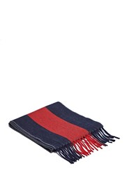 Gucci Long Striped Scarf Navy