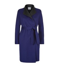 Armani Collezioni Double Faced Belted Coat Female Blue