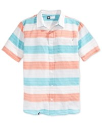 Lrg Men's Trinidad Stripe Short Sleeve Shirt Jaguar Blu
