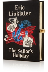 Olympia Le Tan The Sailor's Holiday Embroidered Clutch Black