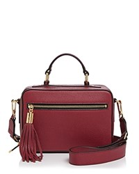 Milly Small Astor Satchel Burgundy Gold