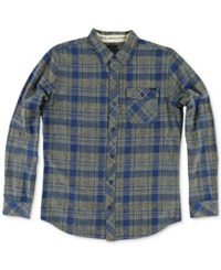 O'neill Palisade Plaid Flannel Long Sleeve Shirt Dark Blue