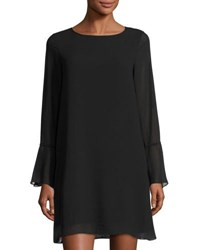 Max Studio Long Sleeve Bell Cuff Shift Dress Black
