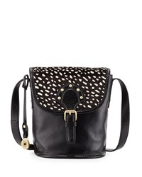 Isabella Fiore Brompton Calf Hair Leather Canteen Bag Black Whit