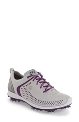 Ecco Women's 'Biom G2' Water Resistant Golf Shoe Purple Concrete Leather