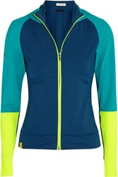 Monreal London Hooded Stretch Jersey Jacket Teal
