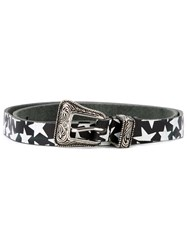 Saint Laurent Star Print Belt Black