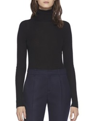 Gucci Ribbed Cashmere Turtleneck Sweater Black