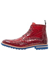 Melvin And Hamilton Eddy 10 Laceup Boots Red Crip Blue Dark Red
