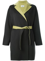 Cacharel Double Face Belted Coat Grey