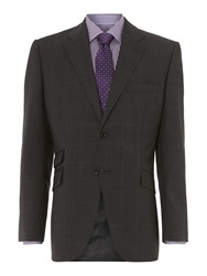 Howick Franklin Prince Of Wales Check Suit Jacket Charcoal
