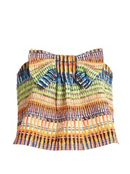 Saloni Eve Raffia Print Cropped Top Multi