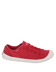 Palladium Cotton Canvas Sneakers Red