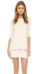 Susana Monaco Double Layer Crew Dress Blanced Almond