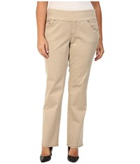 Jag Jeans Plus Size Peri Pull On Straight In British Khaki British Khaki Women's Brown