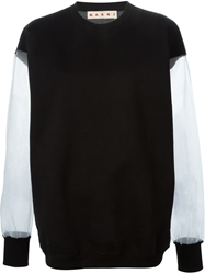 Marni Sheer Sleeve Sweatshirt