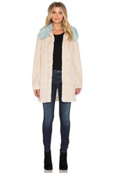 Unreal Fur Candy Blossom Faux Fur Coat Cream